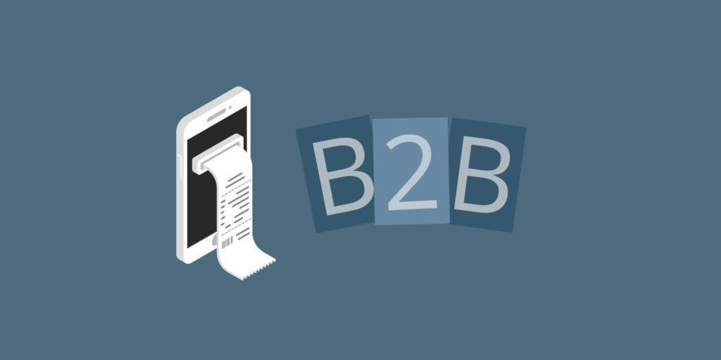 Digital receipts in a B2B context