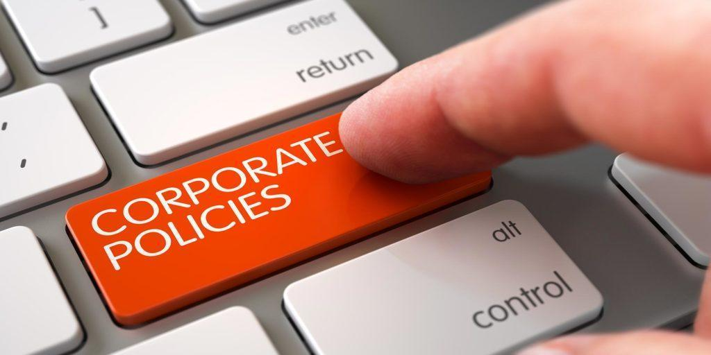 Company policies in organizations