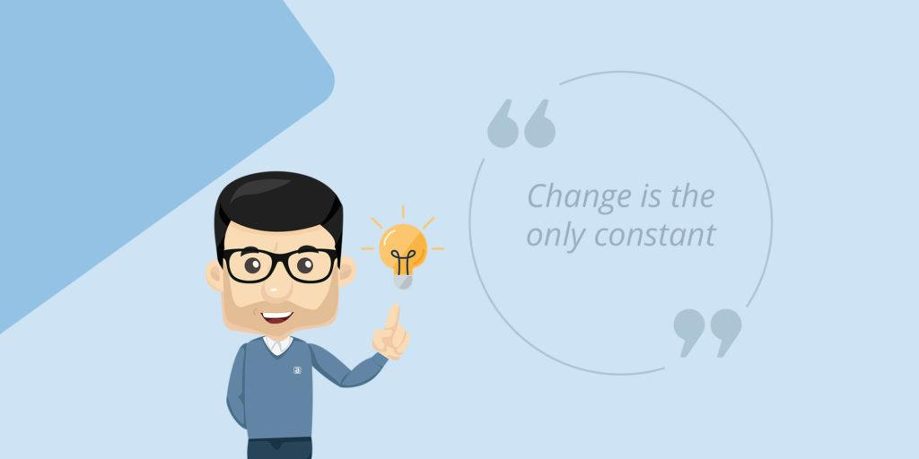 "Quote by Lars de Nully: ""Change is the only constant"""