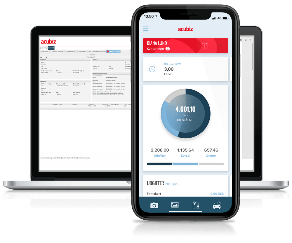 Expense management on smartphone and desktop