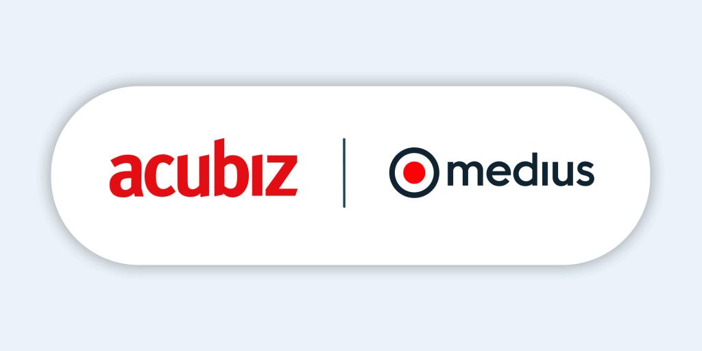 Acubiz x Medius logos